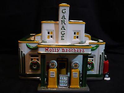 Dept 56 Original Snow Village Holly Brothers Garage  Retired With Original Box