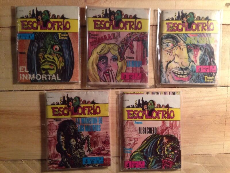 Escalofrio Horror Mexican Mini Comic Sephia, Spanish, 80