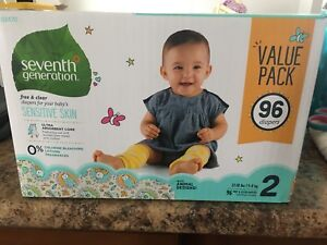 Size 2 Seventh generation, honest company and huggies diapers