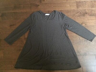 Habitat Women's Tunic Top Long Sleeve Brown Size Large