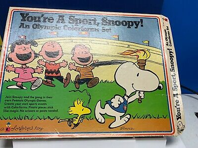 """Colorforms Charlie Brown Snoopy """"Your A Good Sport Olympic Colorforms Set"""""""