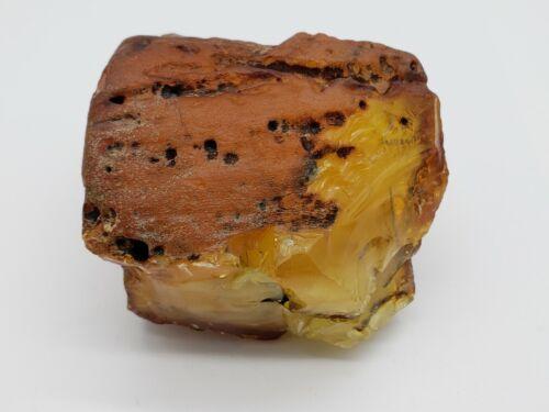 amber raw stone 311g natural baltic rock m9