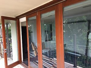 Bifolds Doors Cedar Timber Used 4 Leaf Frame 3550x2735 Tempe Marrickville Area Preview