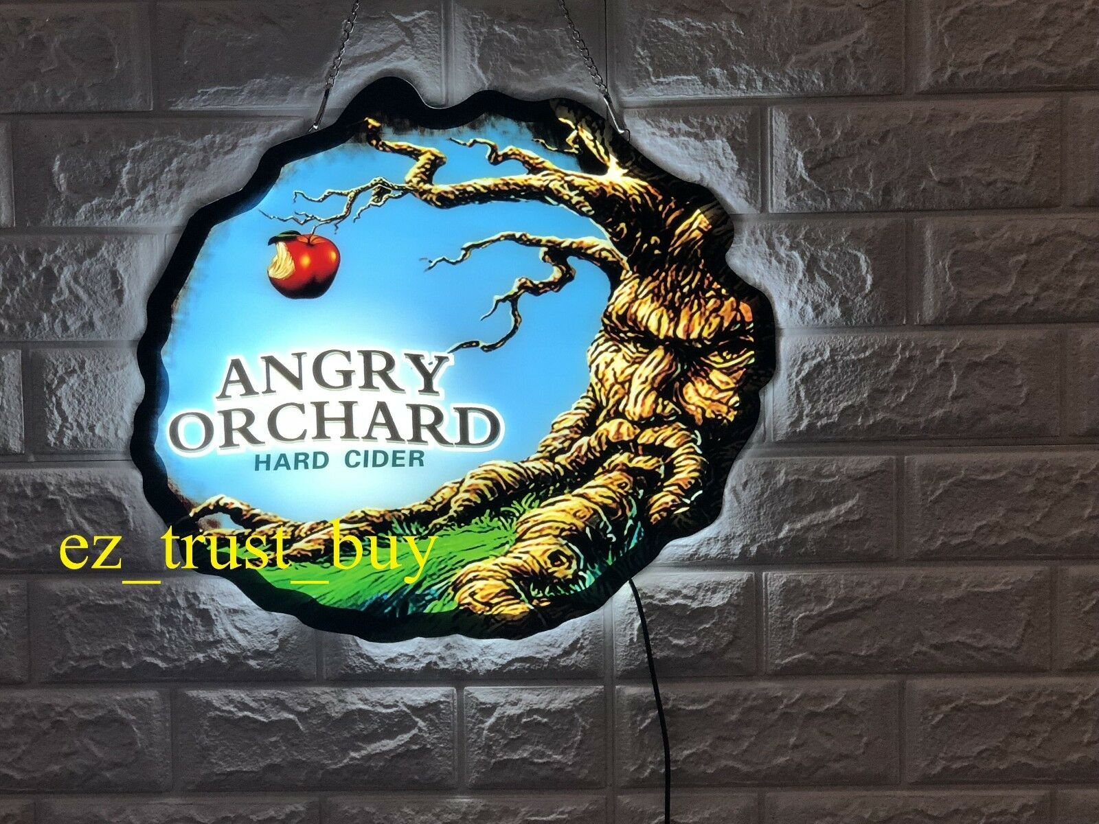 Rare New Angry Orchard Hard Cider Beer Logo Bar LED 3D Light