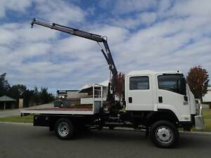 Isuzu FTS 800 Dualcab 4 X 4 Crane Truck Welshpool Canning Area Preview