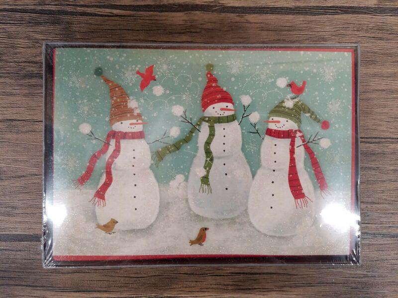 Hallmark Holiday Christmas Boxed Cards 16 Cards & 17 Envolopes, Snowman [L121]