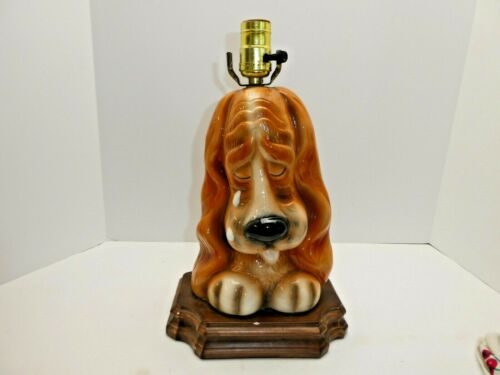 Sad Face Basset Hound Dog Puppy  Lamp