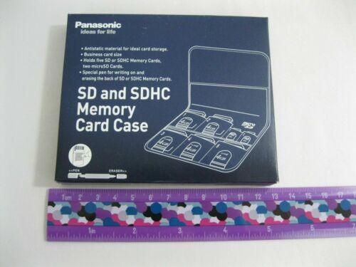 New! Panasonic SD - SDHC - Micro - Memory Card Case + Pen & Eraser Free Ship