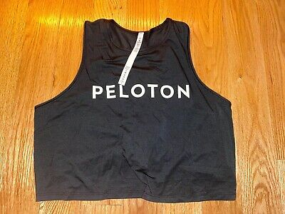 New Lululemon For Peloton Cinch Back Workout Tank Top  - Black Size 6