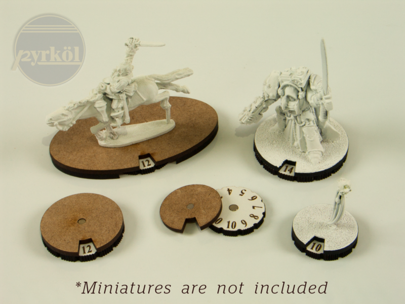 Pyrkol Wound Trackers | Basing Dials for Warhammer 40k