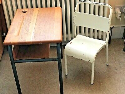 Child's Antique Vintage Original Old Skol Desk chair Shabby Chic 4 available GC