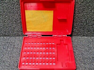 Value Collection 49 Piece 0.011 To 0.06 Inch Plug Pin Gage Set Minus 0.0002 I