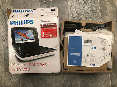 """Philips PD700/37 7"""" inch Portable DVD Player in Box, White"""