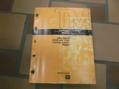 John Deere 655b 755b Crawler Loader Dozer Shop Service Repair Manual Tm1333