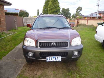 2001 hyundai santa fe current rwc and rego urgent sale Epping Whittlesea Area Preview