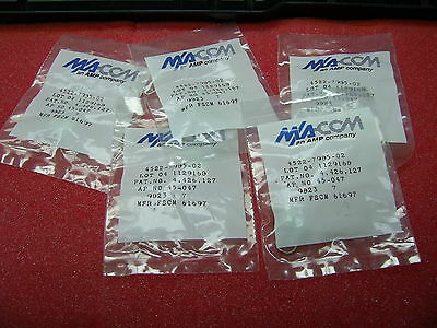 8 Pcs Ma-comte Connectivityamp 4522-7985-02 50 22 Ghz Rf Connectors Coaxial