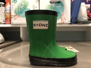 Stonz baby rubber boots, size 4