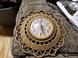 Vintage Burwood Clock~Quartz Wall Clock~1989 New Haven~USA Made~Works Perfect!