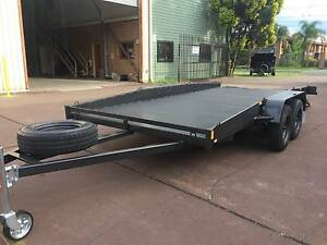 CAR TRAILER WITH LONG RAMP MECHANICAL BRAKE 1Y PRIV REGO $3000 Fairfield Area Preview