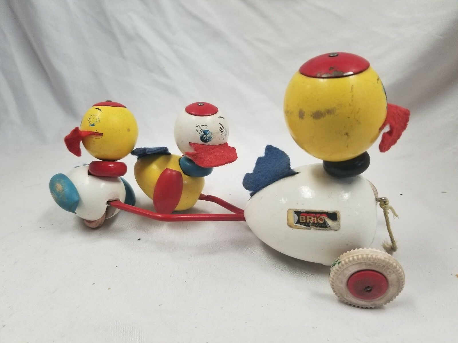 Vintage Brio Wood Duck Pull Toy