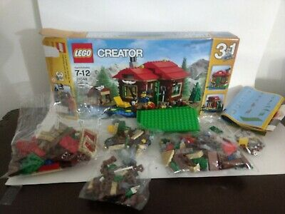 Lego Creator Set 31048 Lakeside Lodge 368 Pieces 3 in 1 Complete with  Box