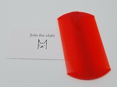 - Flea Lice Fine Teeth Double-Sided Flea Removal Plastic Comb for Dog Cat Lice Too