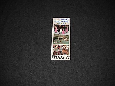 1971 West Virginia Events Brochure Pamphlet