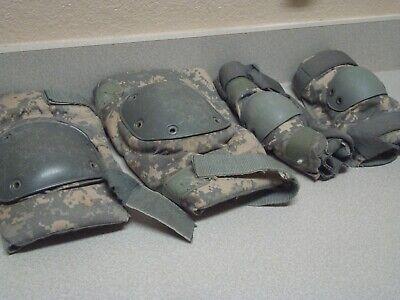 USGI Military USMC Army Bijans WOODLAND Camo ELBOW Pads Tactical Large MINT