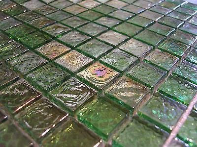 Glasmosaik Mosaik Fliese Klarglas grün hellgrün dunkelgrün weiß perlmutt effekt