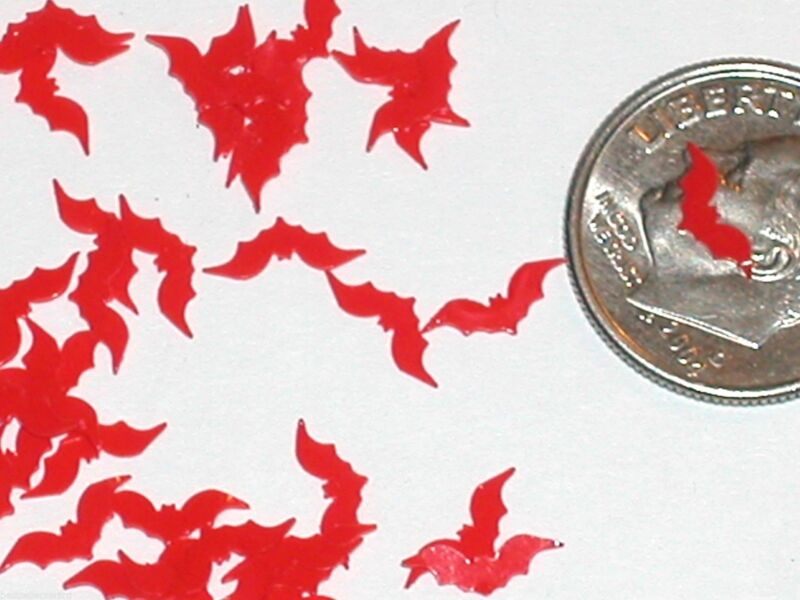 15pc. Super tiny Magical Halloween RED Bats Wings Miniature for glass bottle