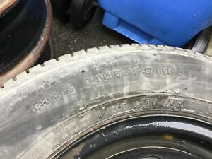 4 Winter Tires with Rims. P185/70/R14.