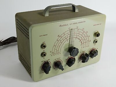Heathkit Sg-7 Vintage Tube Signal Generator Original Good Cosmetic Condition