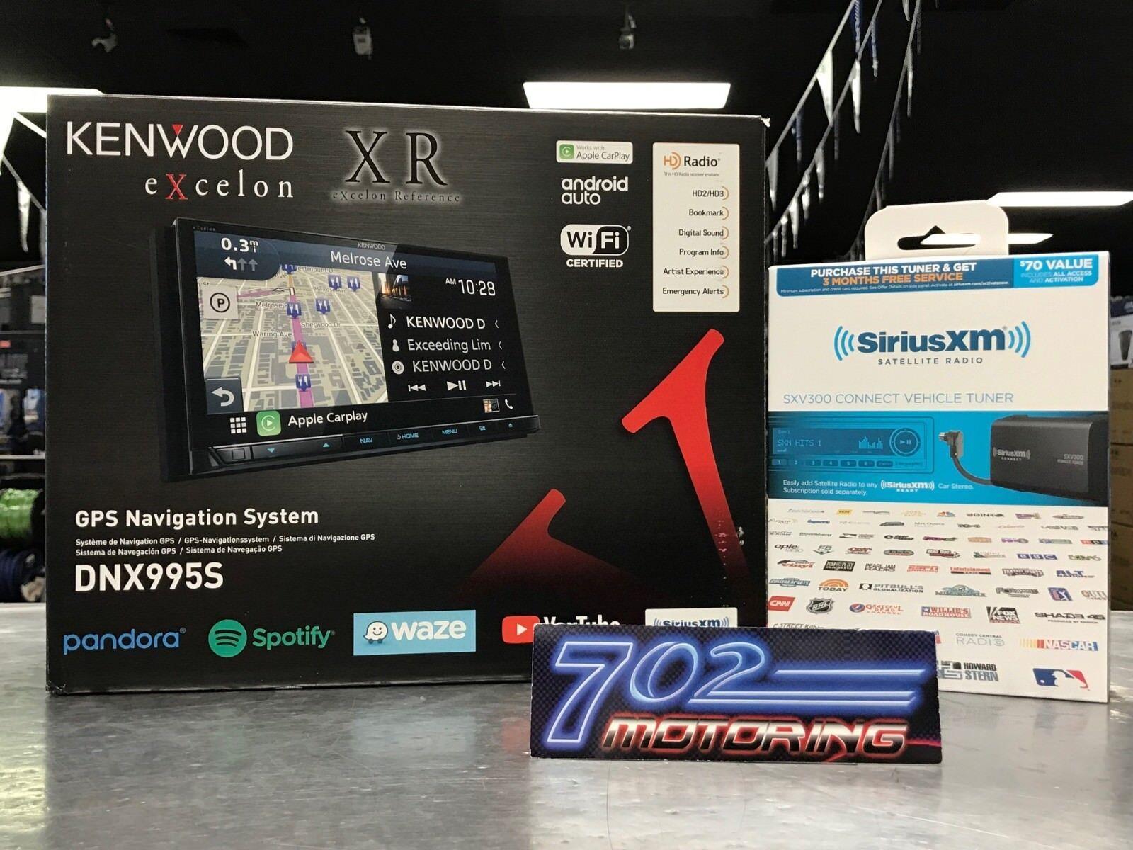 "KENWOOD EXCELON DNX995S 6.75"" CD DVD BLUETOOTH GPS WIFI HD R"