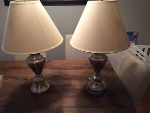 Two table lamps $40