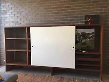 Custom-Made Grey Ironbark Timber Shelf/TV Cabinet Rozelle Leichhardt Area Preview