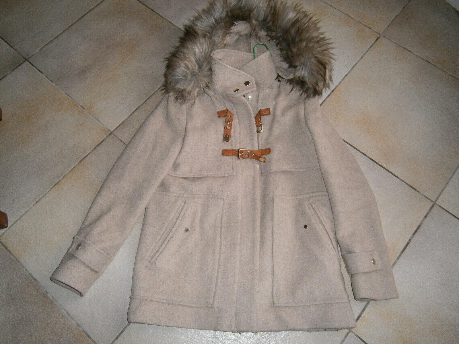 Manteau duffle coat beige marque zara taille m a capuche