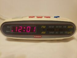 PLAYSKOOL VTG TESTED Kids Digital Alarm Clock AM/FM Radio PS-360(N) FREE SHIP