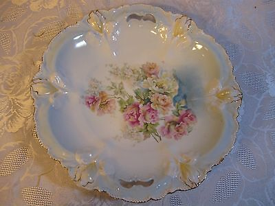 """RS Prussia Iris Mold Round Handled Cake Plate/Bowl Serving Platter 11"""""""