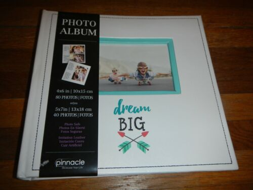 New Pinnacle Dream Big Photo Album 4x6 80 Photos 5x7 40 Photos