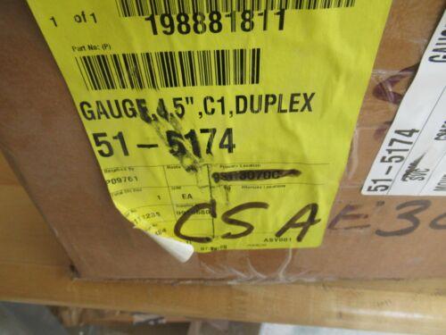 "Class 1 4.5"" Liquid Filled Pressure Gauge Duplex 0 to 400 PSI Pierce p/n 51-5174"