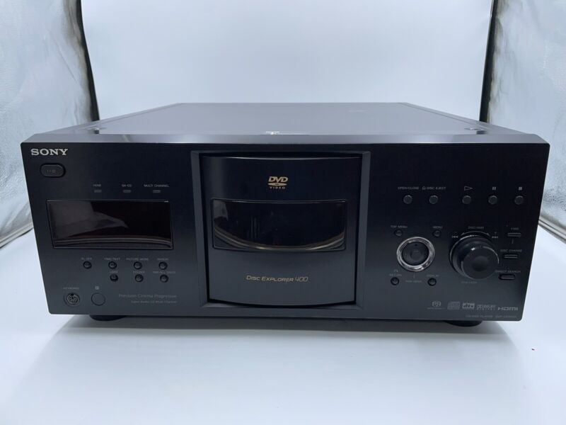HDMI Sony DVP-CX995V Disc Explorer 400 DVD/CD SACD Mega Changer New Belts READ!!