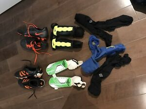 Soccer gear (mens and womens) - cleats, shin pads, socks