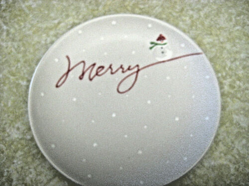 Hallmark Christmas Snack Plate  ~ Merry ~ Cookie Plate ~ 8 inch