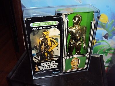 KENNER STAR WARS C 3PO&STORMTROOPER  THIS SALE IS FOR ACRYLIC CASES ONLY NO TOYS](Stormtrooper For Sale)