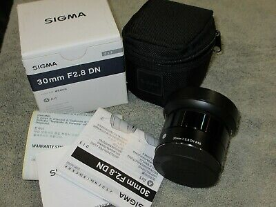 PRISTINE SIGMA 30MM F2.8 DN ART LENS FOR SONY E MOUNT L/N