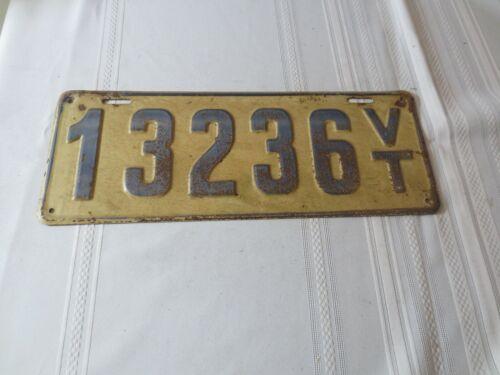 1917 VERMONT LICENSE PLATE 13236