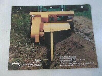 Bradco Skid Steer Trencher And Skid Hoe For John Deere 125 Brochure