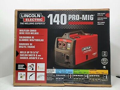 Lincoln Electric 140 Pro Mig Flux Corded Wire Feed Welder K2480-1 Brand New