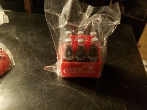NEW 1995 Miniature Plastic 6 Pack of Coca Cola Bottles Case Refrigerator Magnet