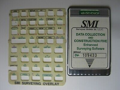 Smi Data Collection And Construction Five Card Manual Overlay For The Hp 48gx